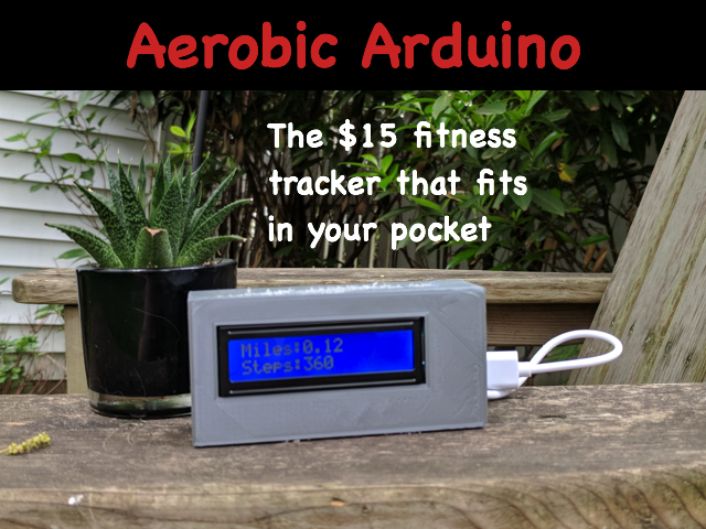 Picture of Aerobic Arduino - a $15 Fitness Tracker Power by an Arduino