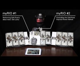 Combined the new-school (iPad, myRIO, LabVIEW) with the old-school (MIDI, floppy drives) to create the ultimate electronic band - myFloppyDriveOrchestra