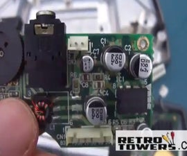 How to fix game gear screen and sound problems by replacing capacitors