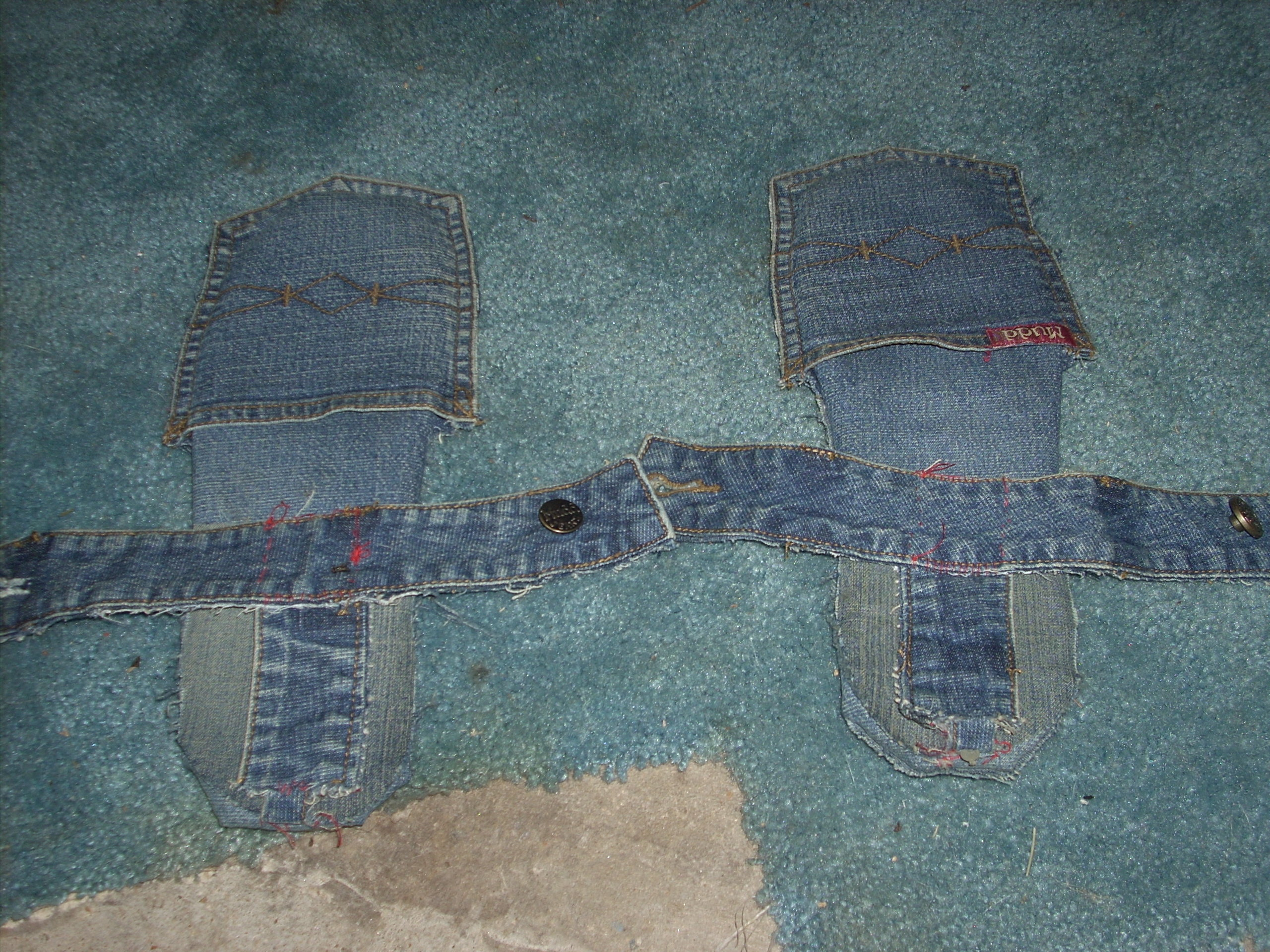 Picture of Make These Easy Cardboard Jean Sandals W/ankle Straps
