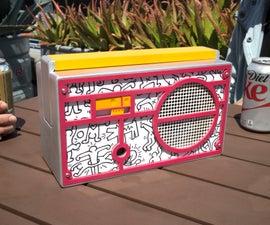 Retro Bluetooth Boombox