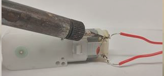 Picture of Soldering and Attaching the Motors