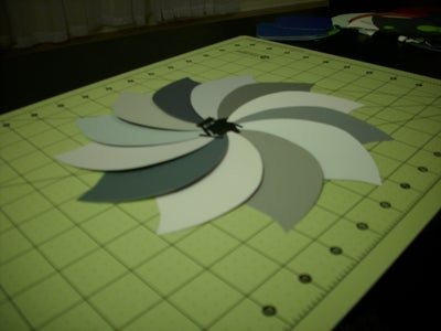 Tape Your Swatches to Create the Clock Face.