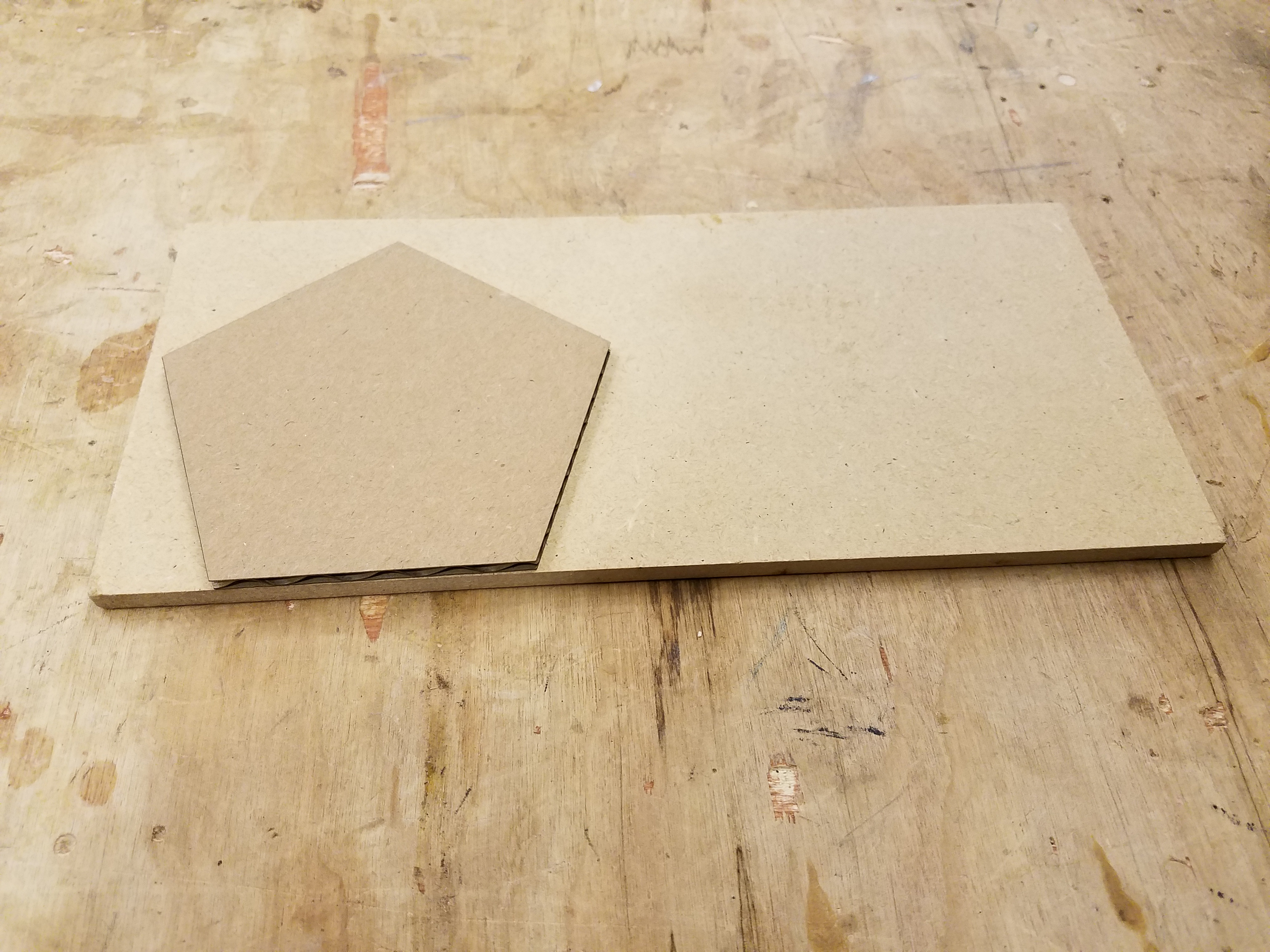 Picture of Cut Out MDF Pieces.