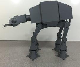 3D Printed Motorized AT-AT Walker