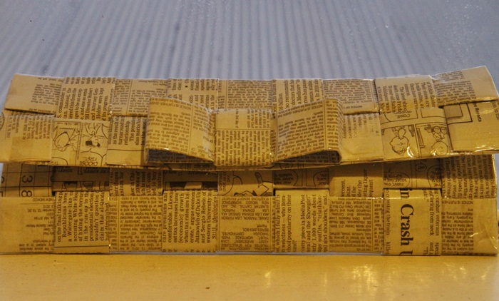 Picture of Woven Newspaper Clutch