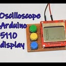 Oscilloscope Arduino 5110 Display