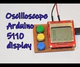 Oscilloscope Arduino 5110 Display