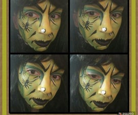 Wicked Witch Face Paint