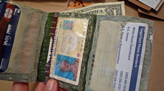 Upcycled Wallet From Plastic Bags