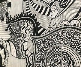 How to Draw Best Complex Zentangle Art Design