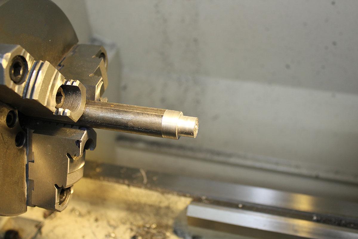 Picture of Turn Metal Stock to Desired Diameter