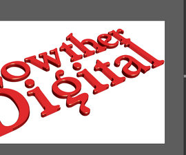 Logo for 3D-printing or Signmaking