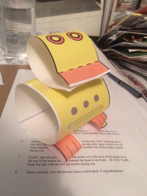 Picture of How to Make a Robot Duck Out of Paper