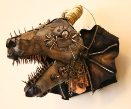 Steampunk Dragon Head With Cardboard