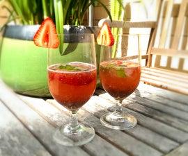 Iced Strawberry Mint Chia Seed Drink | Josh Pan