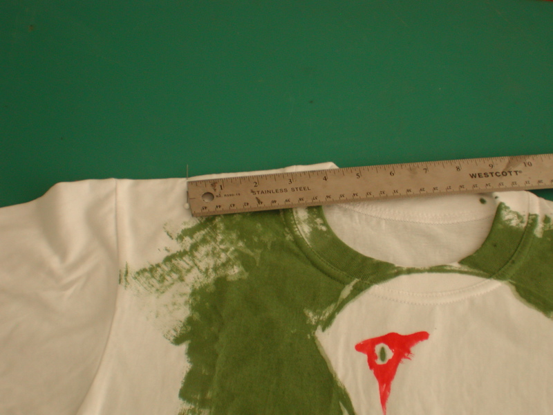 Picture of Styling the Halter Front by Making Some Choice Cuts.
