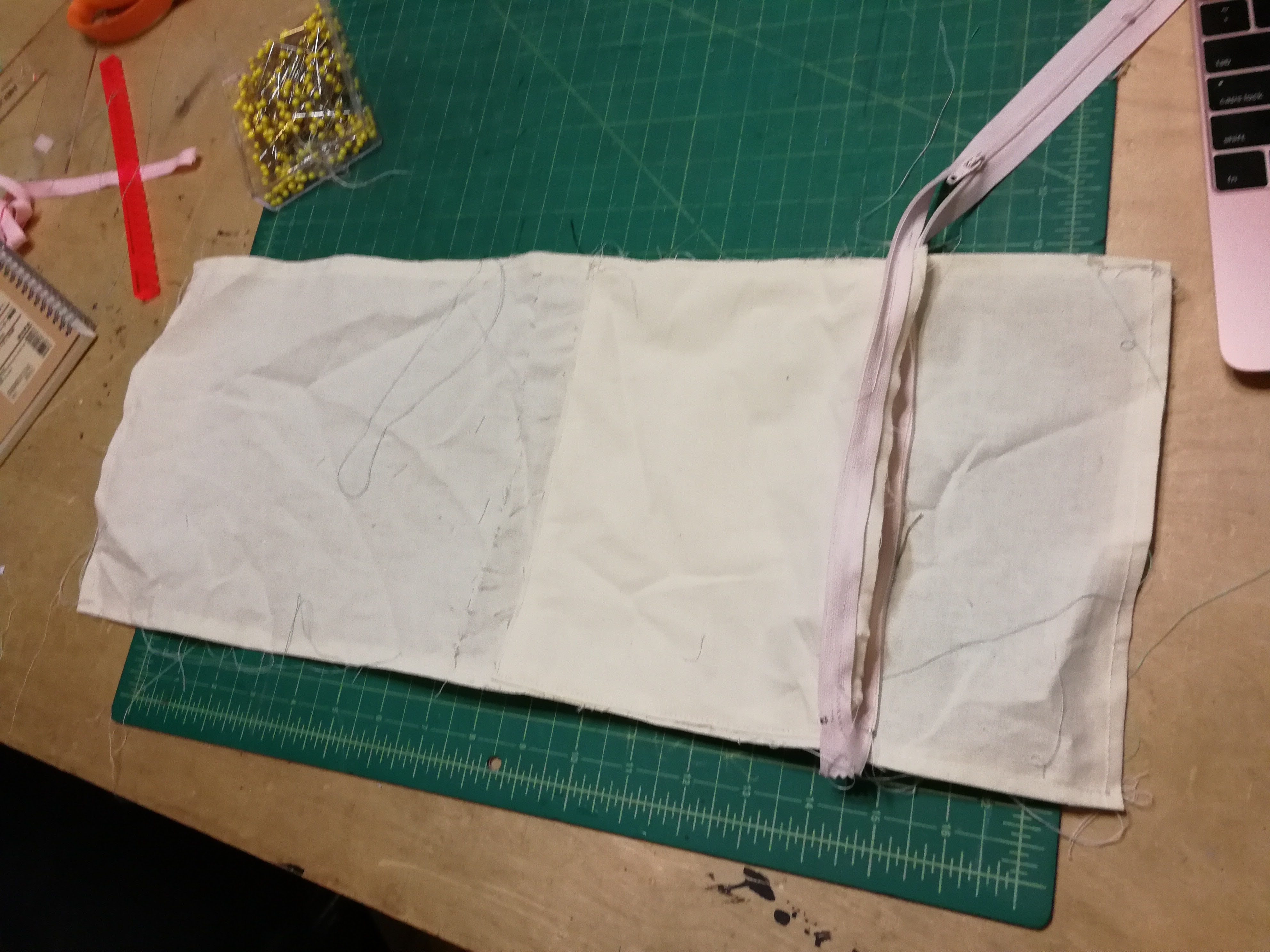 Picture of Sew Cover Side of Zipper