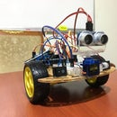 Bluetooth Controlled & Obstacle Avoiding Arduino Robot & Park Sensor
