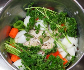 Delicious Homemade Chicken Broth