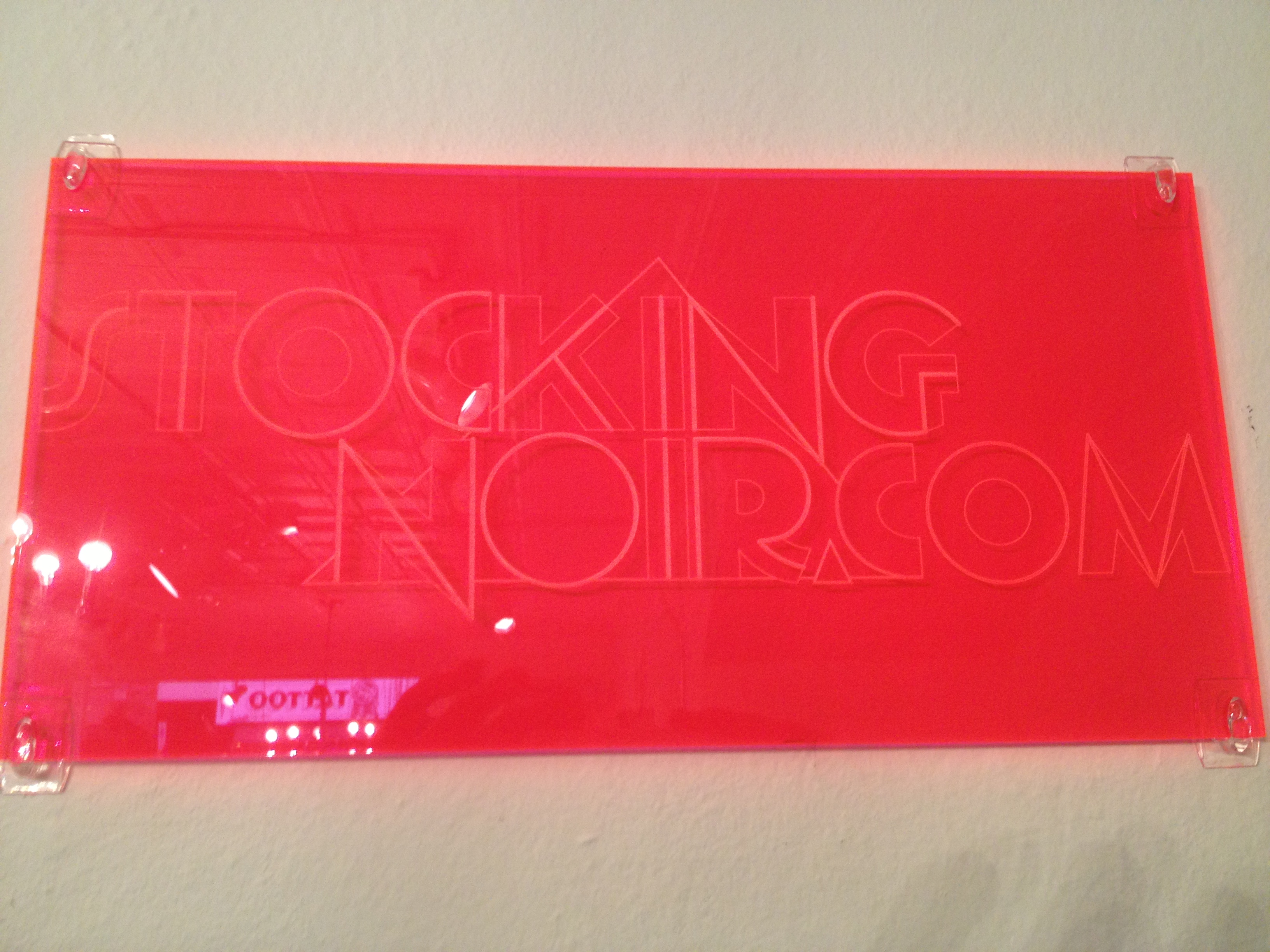 Picture of Logo Laser Etched Fluorescent Acrylic Brand Plaques