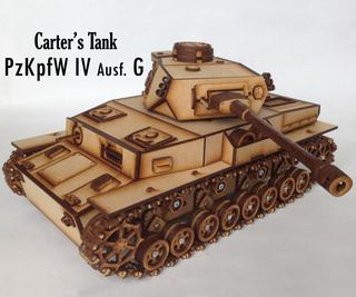 Carter's Lasercut Tank - Panzer IV G/H (motorized)
