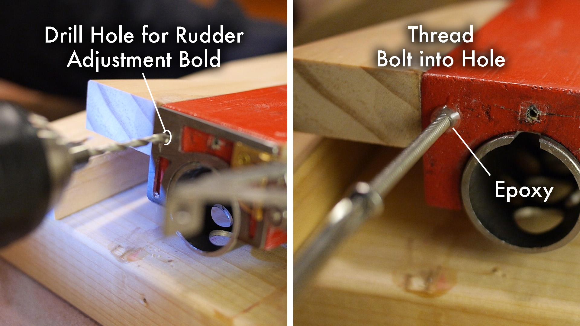 Picture of The Rudder Adjustment Bolt