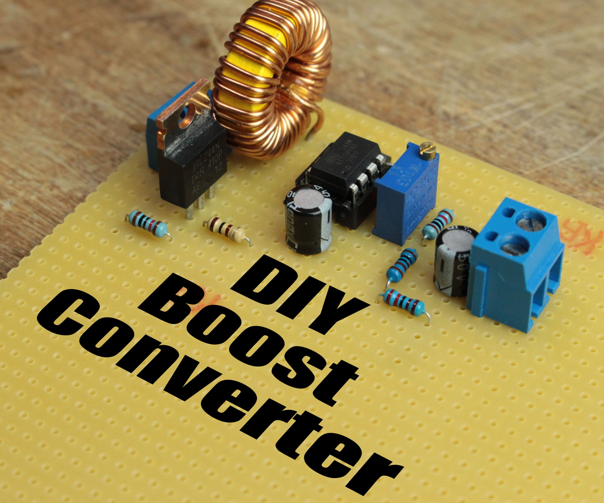 Diy Boost Converter How To Step Up Dc Voltage Efficiently 5 Set Of 8 Electronic Circuit Board Hard Drive Mounts Ebay Steps With Pictures