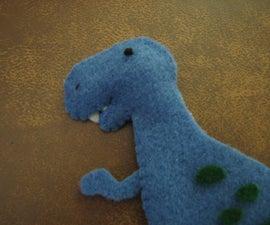 MagnaSaurus! - Felt Tiny Dinosaurs that Stick to Metal