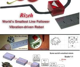 How to Make World's Smallest Line Follower Robot (robo Rizeh)