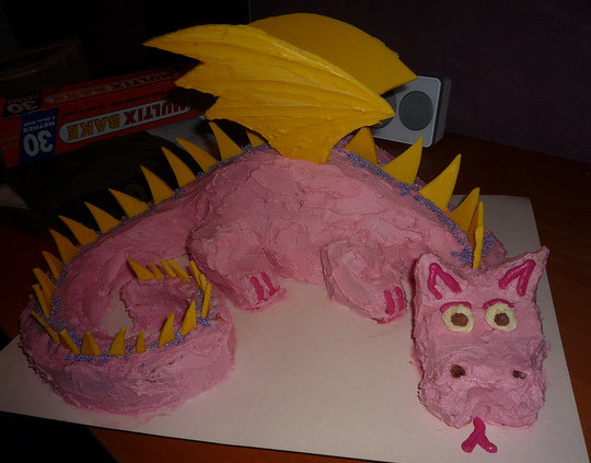 Picture of How to Make a Dragon Cake