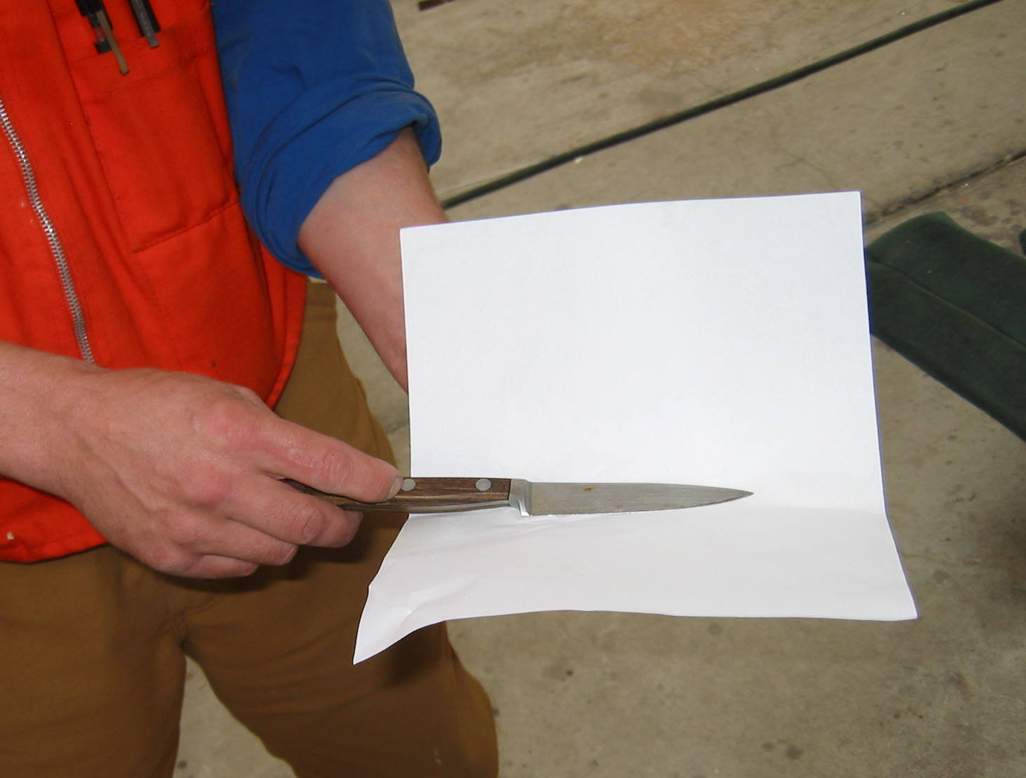 Picture of Knife Sheath From Paper