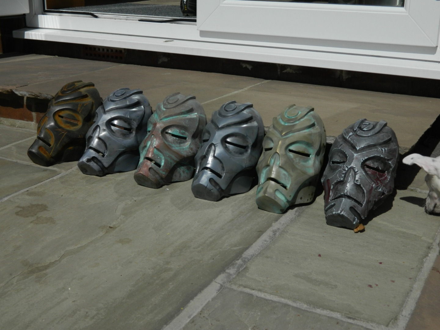 Picture of Cold Metal Casting and Patina on Skyrim Dragon Priest Masks