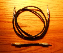 Retro stereo patch cables from a USB cable