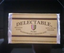 Homemade Dark Chocolate.