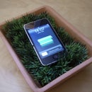 USB grass charging station