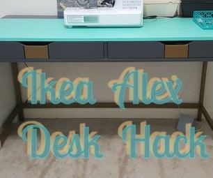 Alex Ikea Desk Hack