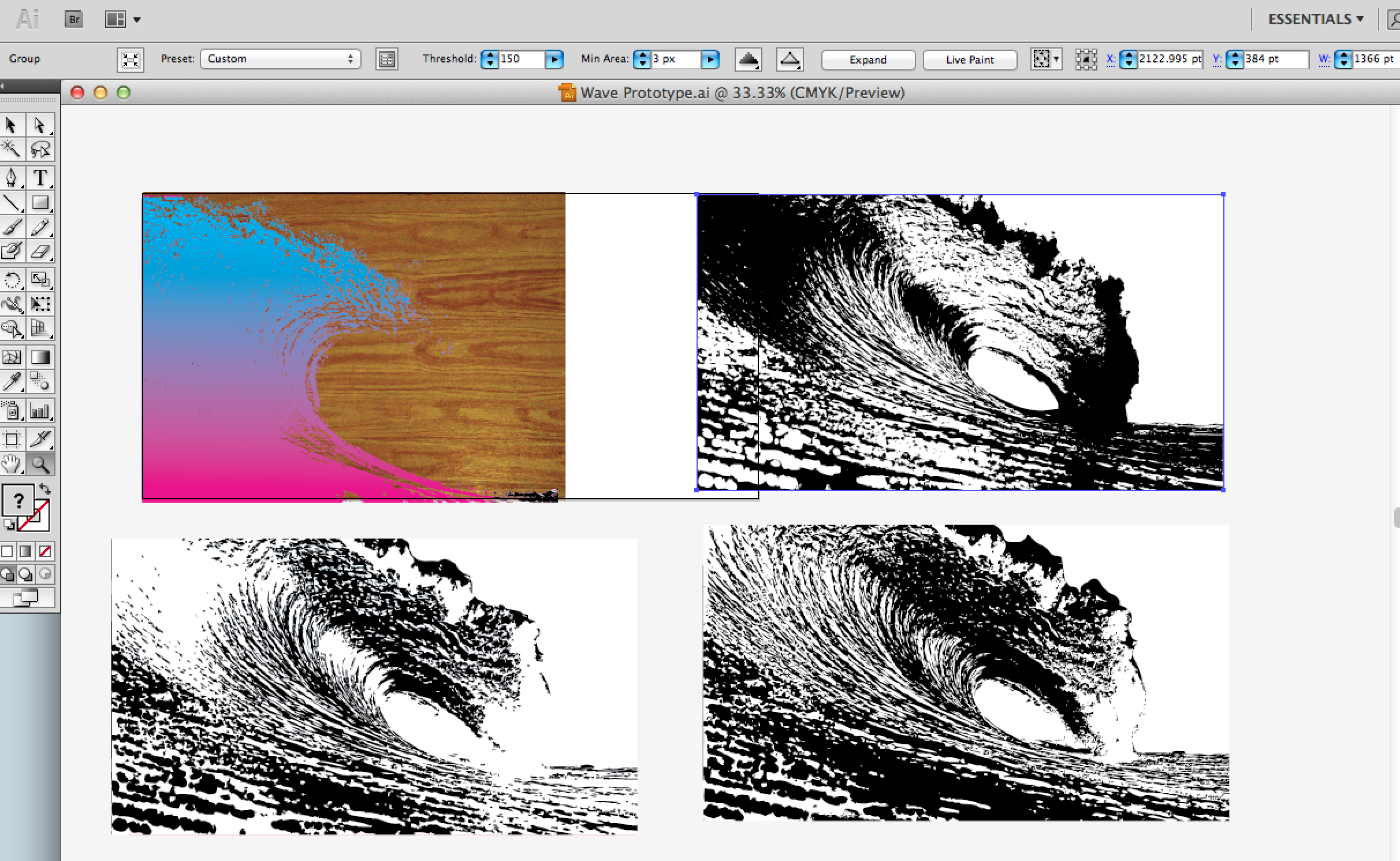Picture of Use Live Trace in Illustrator to Reduce the Image Complexity