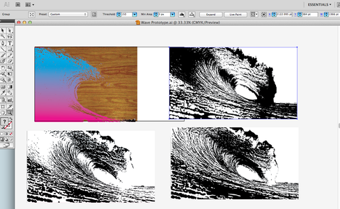 Use Live Trace in Illustrator to Reduce the Image Complexity