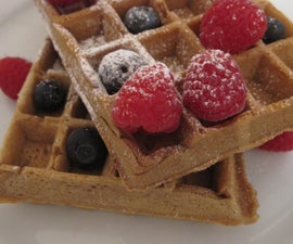 Waffles with a Hint of Coffee