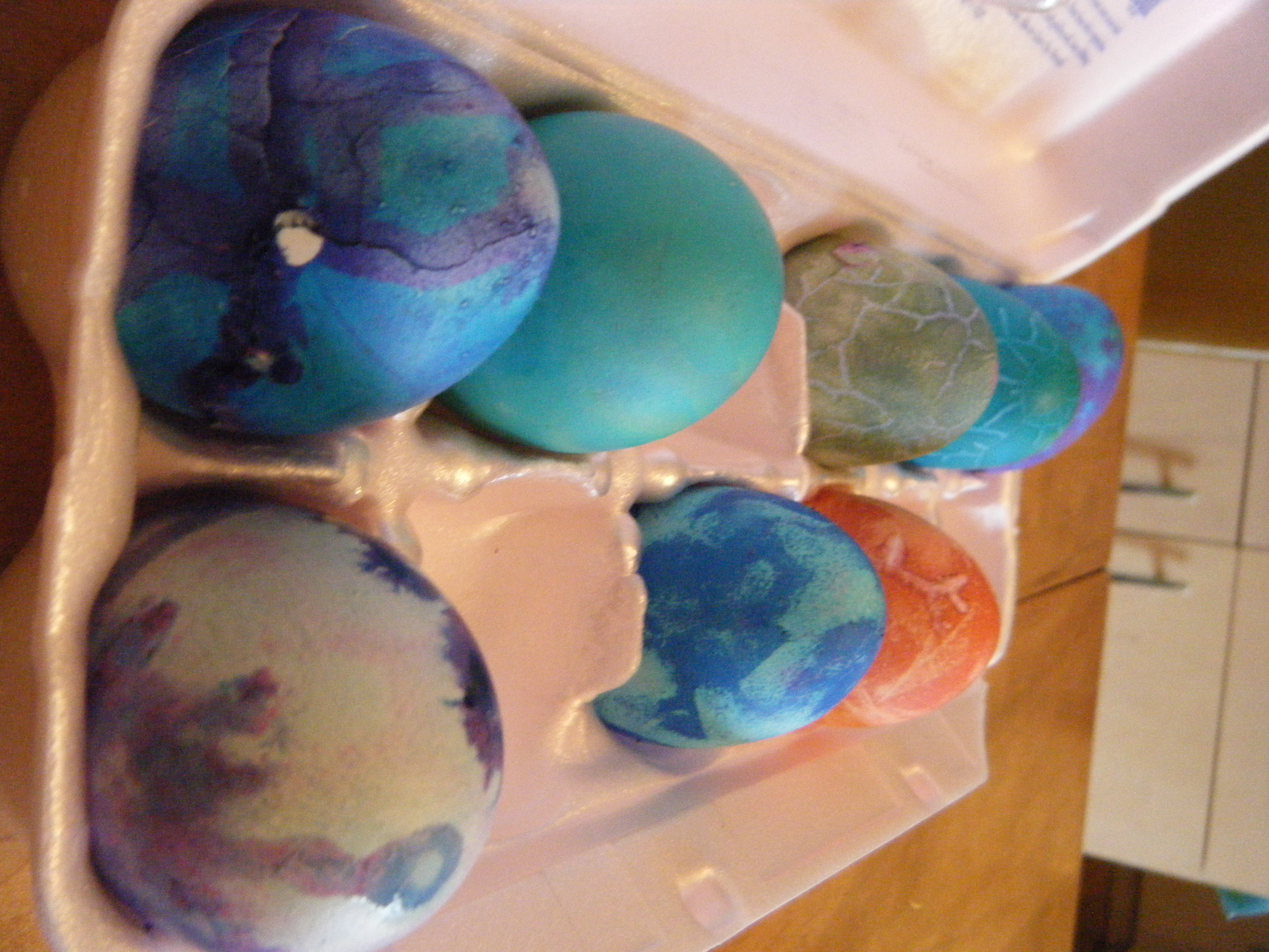 Picture of Dyed Easter Eggs