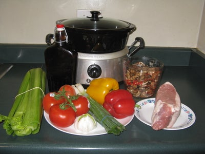 Supplies & Ingredients for Pulled Pork.
