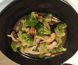 Super Healthy Broccoli and Mushrooms Stir Fry