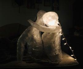 Human Packing Tape Sculpture