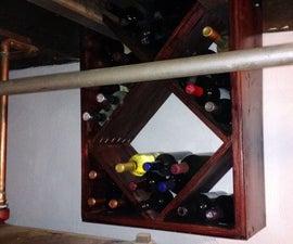 Basement Ceiling Wine Rack