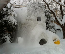 Massive Snow Fort With 3 Floors!