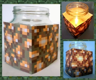 Easy Minecraft Glowstone Beeswax Candle