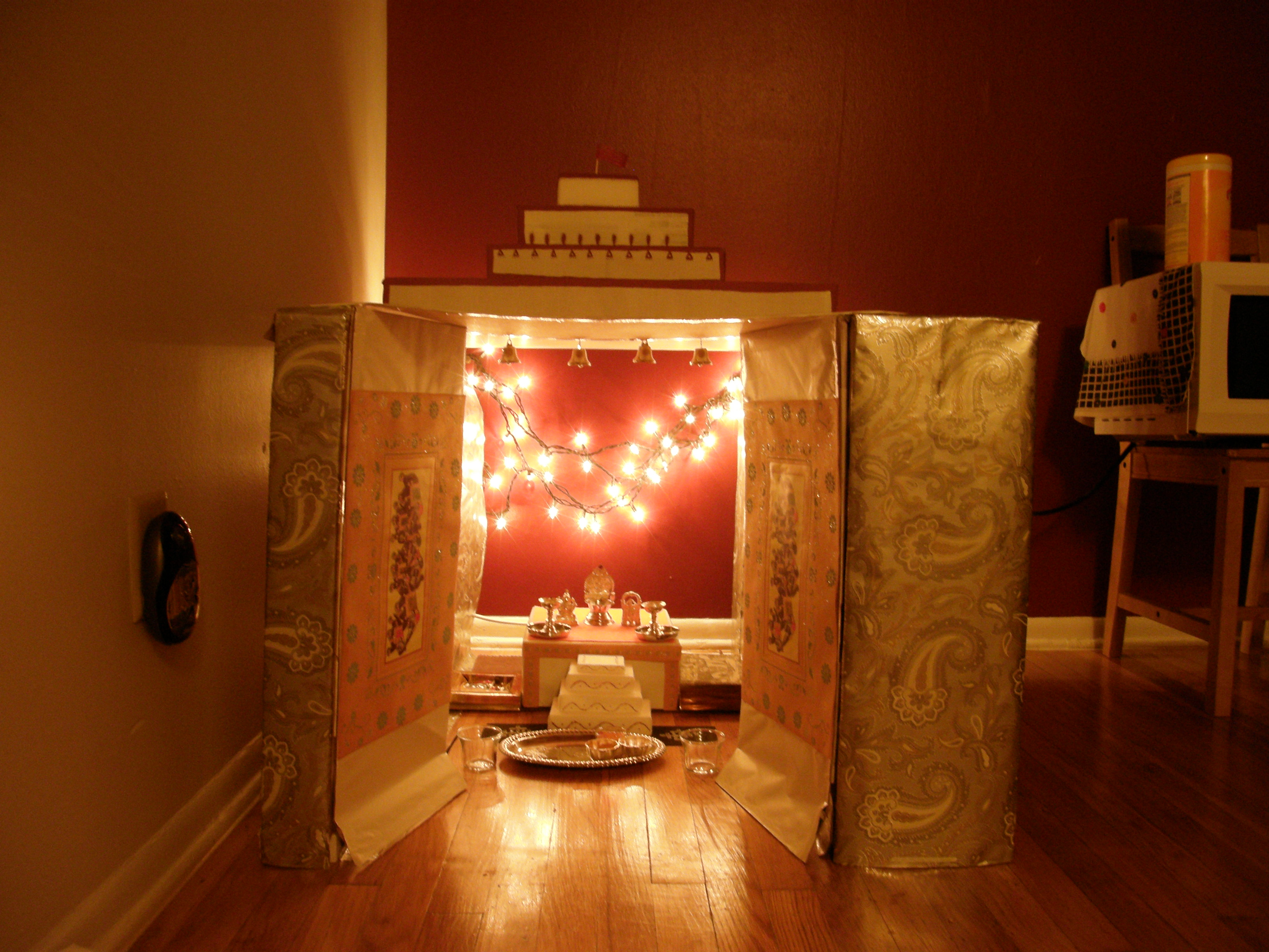 Cardboard Temple Shrine At Home 9 Steps With Pictures