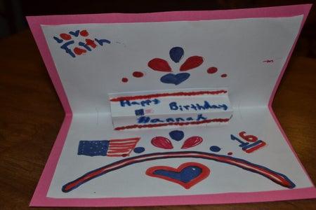 Patriotic Birthday Card