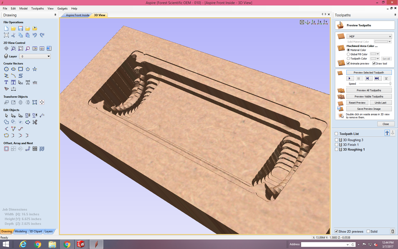 Picture of Cutting on the CNC
